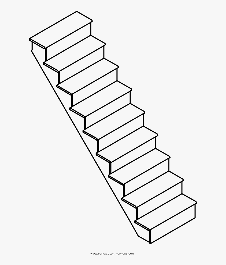 Transparent Staircase Clipart Png - Scale A Da Colorare, Png Download, Free Download