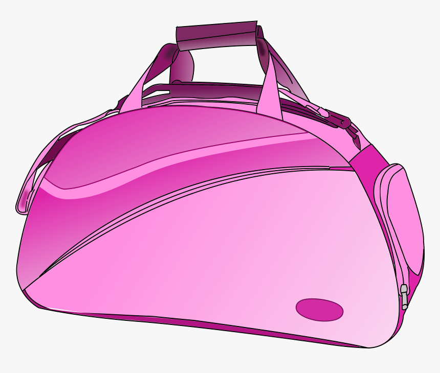 Pink Purse Clipart - Duffel Bag Clip Art, HD Png Download, Free Download