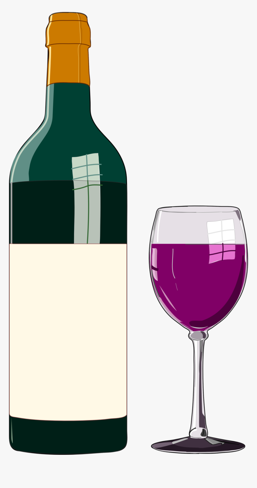 Bottle Of Wine Clipart, HD Png Download, Free Download