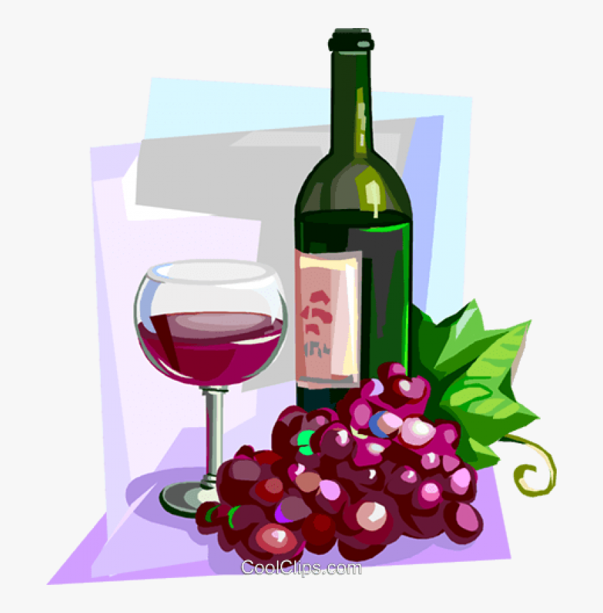 Transparent Bottle Of Wine Clipart - Wine Grapes Clip Art, HD Png Download, Free Download