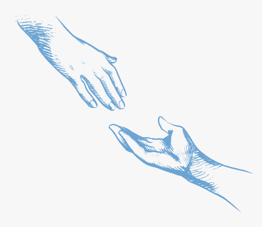 Reaching Hands Icon - One Person Holding Another Hand, HD Png Download, Free Download