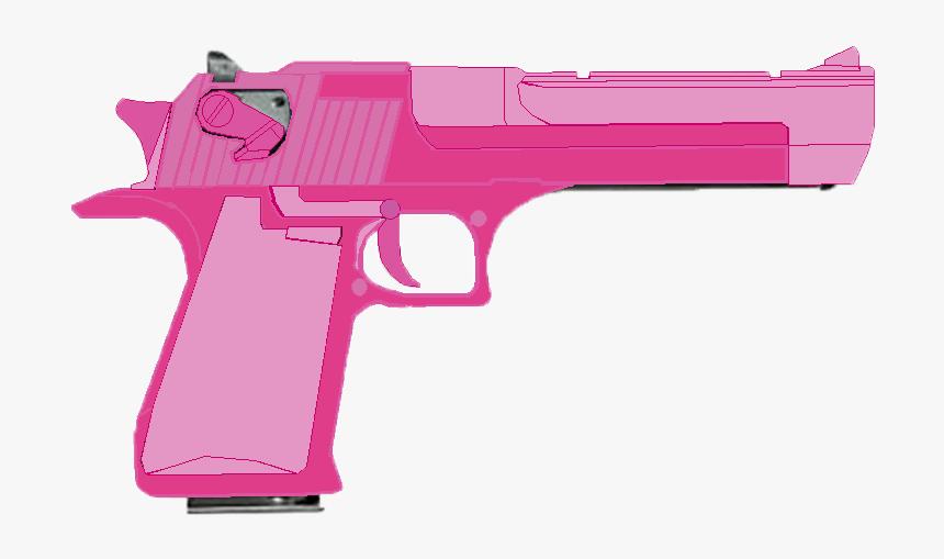 Desert Eagle Outline Download - Transparent Pink Gun Png, Png Download, Free Download