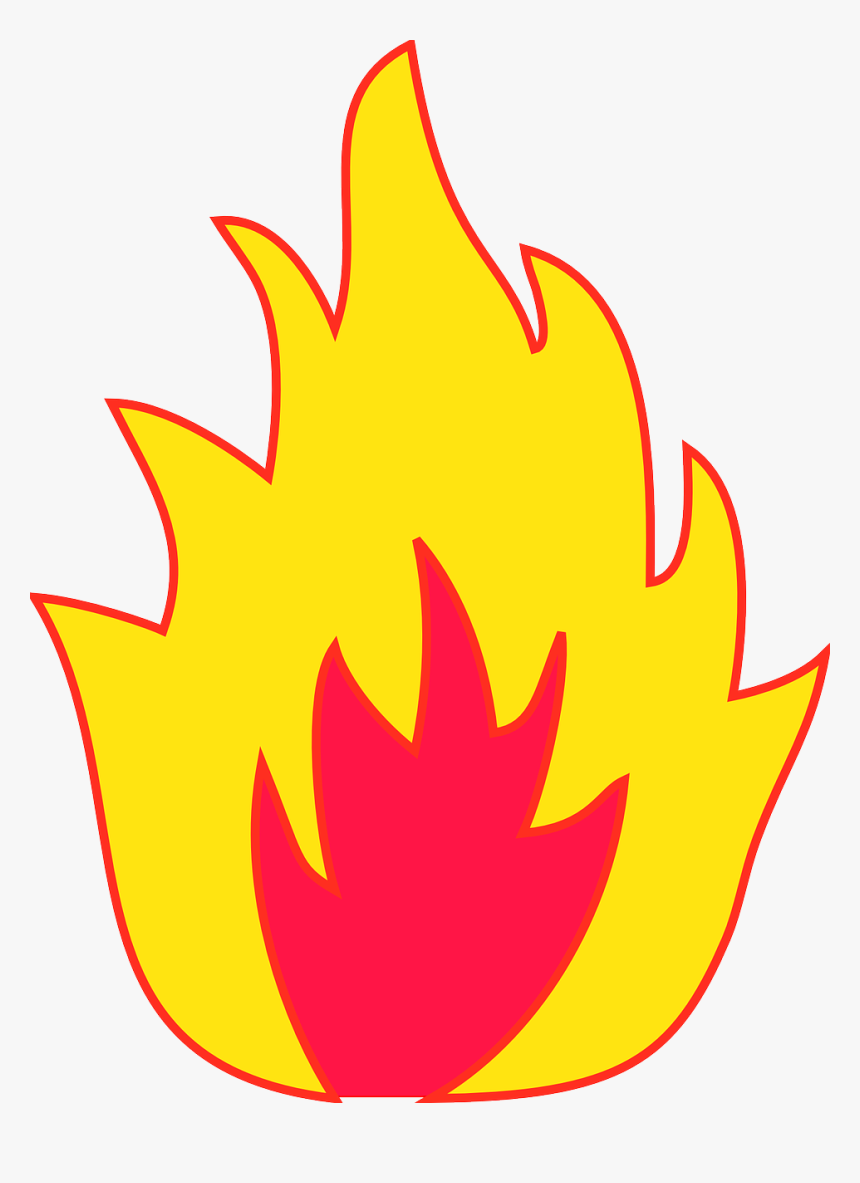 Fire Clipart Simple - Transparent Background Flame Clipart, HD Png Download, Free Download