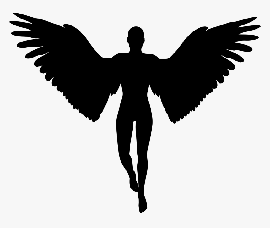 Angel Graphics - Man With Wings Silhouette, HD Png Download, Free Download