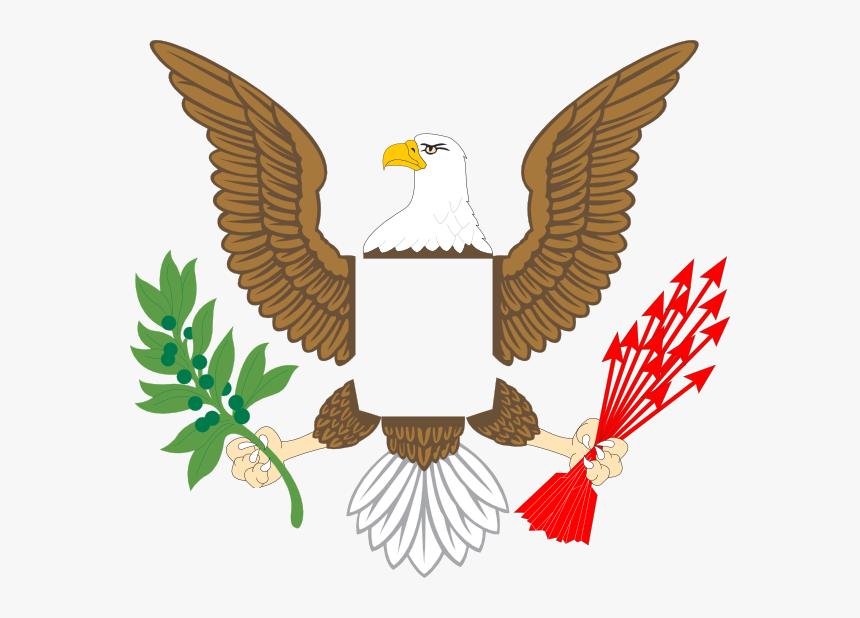 Plain Eagle Svg Clip Arts - Us Seal Eagle Png, Transparent Png, Free Download