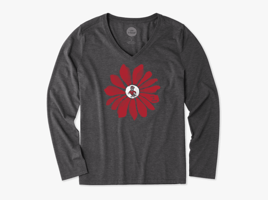 "Women""s Nc State Wolfpack Daisy Long Sleeve Cool - Long-sleeved T-shirt, HD Png Download, Free Download"