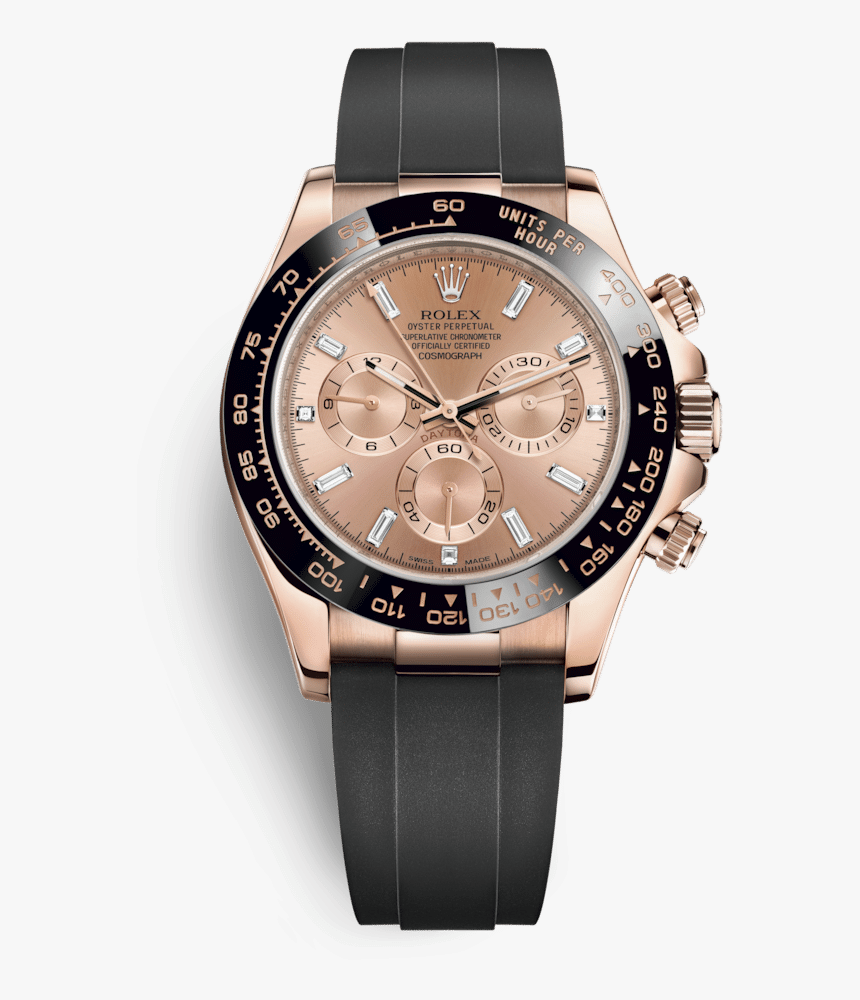 Rolex Oyster Perpetual Cosmograph Daytona 18k Everose - Rolex Daytona Rose Gold With Diamonds, HD Png Download, Free Download