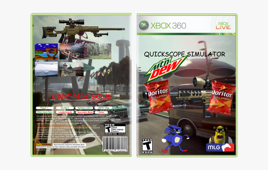 Mlg Quickscope Png - Xbox 360 No Scope, Transparent Png, Free Download