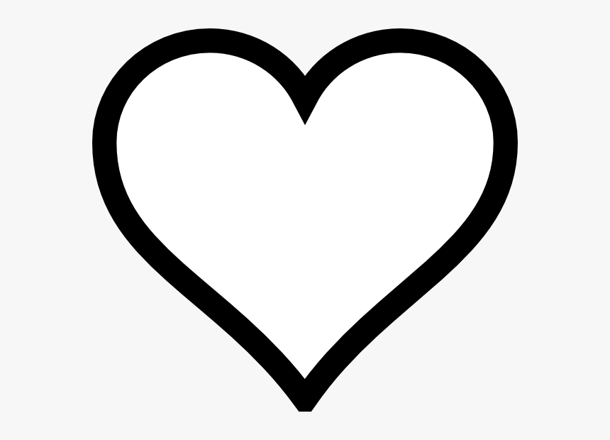 Best Photos Of Heart Outline Printable - Heart Cartoon Black And White, HD Png Download, Free Download