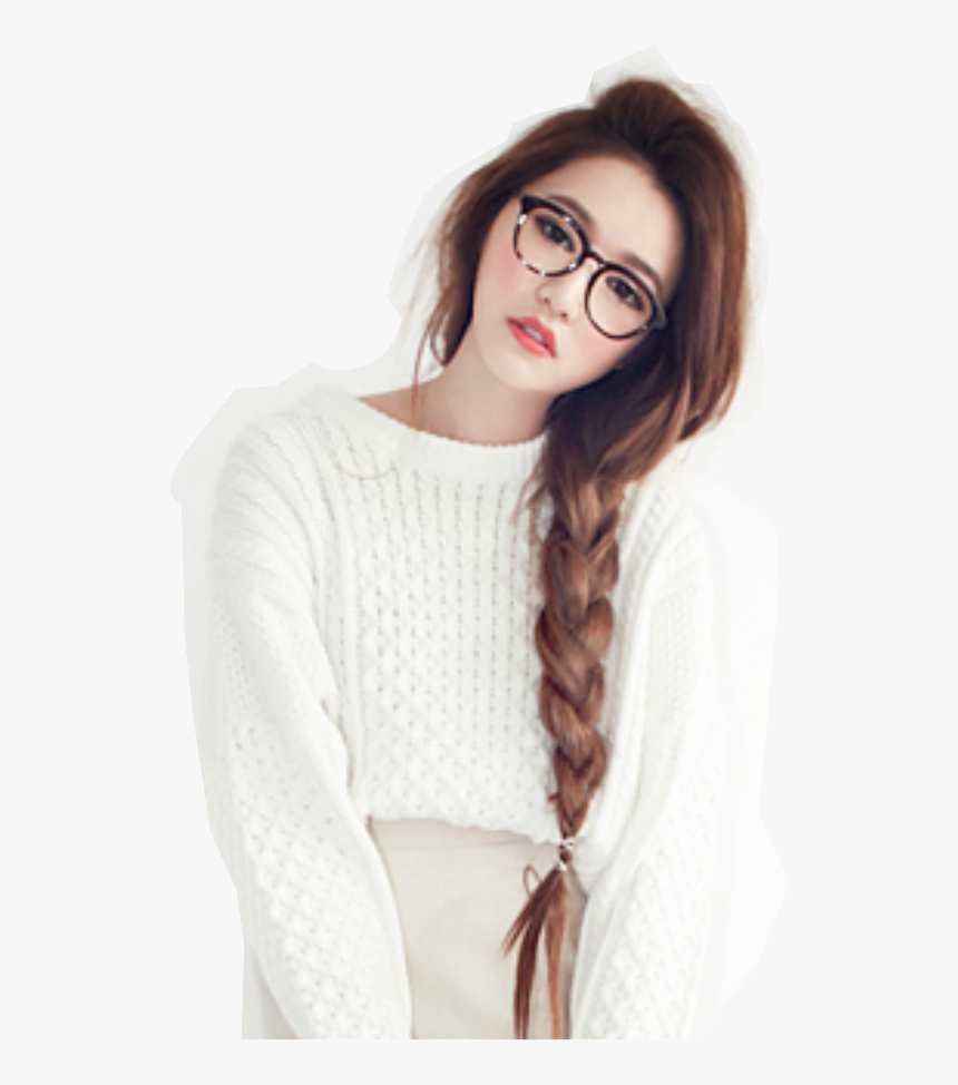 Transparent Nerdy Girl Clipart - 17 Year Old Korean Girl, HD Png Download, Free Download
