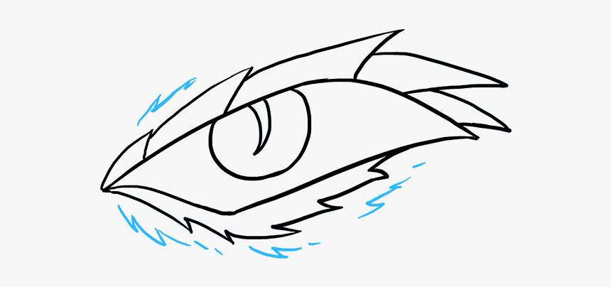 How To Draw Dragon Eye Drawing Easy Dragon Eye Hd Png Download Kindpng