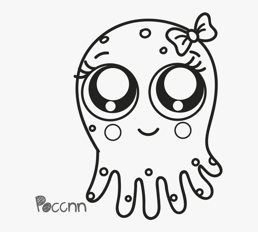 Collection Of Free Jellyfish Drawing Cute Download - Cute Easy Jellyfish Drawings, HD Png Download, Free Download