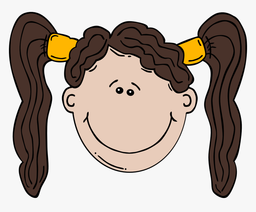 Nerdy Girl Cartoon - Green Eyes Girl Clipart, HD Png Download, Free Download