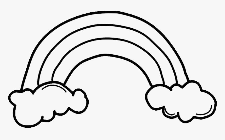 999 Rainbow Clipart Black And White Free Download Black And White Rainbow Clip Art Hd Png Download Kindpng