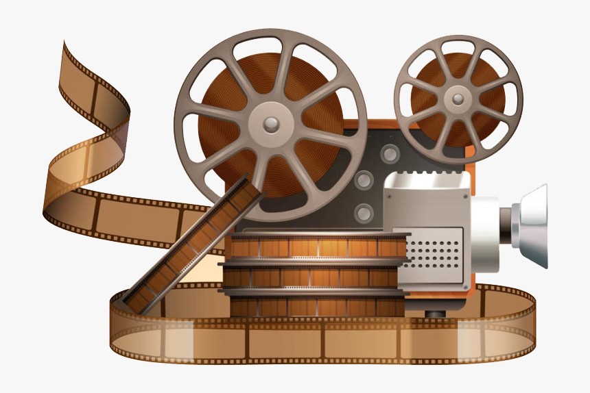 Clip Art Old Film Projector - Film Reel Vector Png Free Download, Transparent Png, Free Download