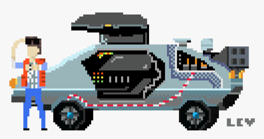 Back To The Future Clipart , Png Download - Back To The Future Pixel Art, Transparent Png, Free Download