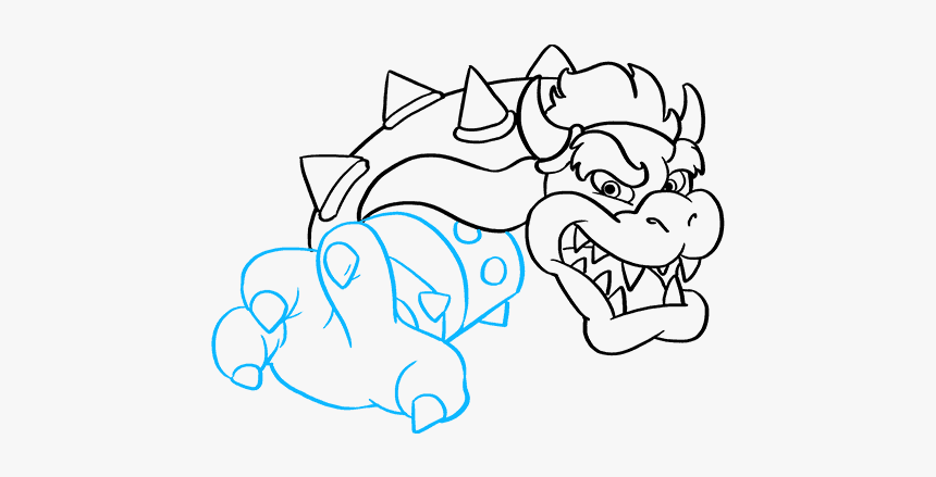 How To Draw Bowser From Super Mario Bros Mario Bros
