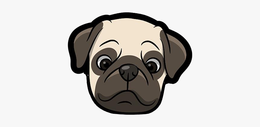 Pug Emoji & Sticker Messages Sticker-0 - Dog Using Laptop Cartoon, HD Png Download, Free Download