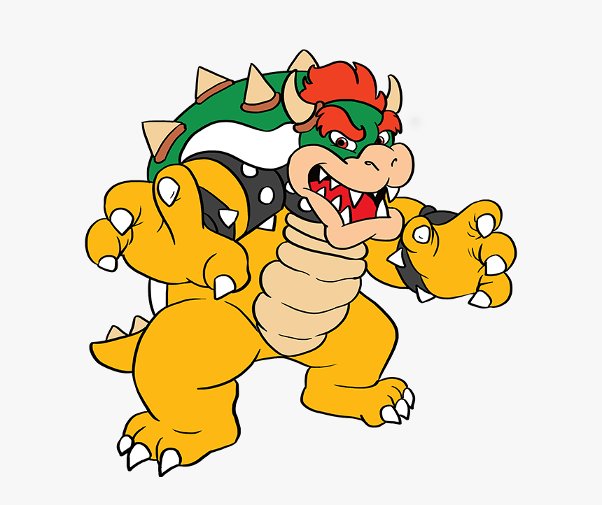 How To Draw Bowser From Super Mario Bros Draw Bowser Hd Png