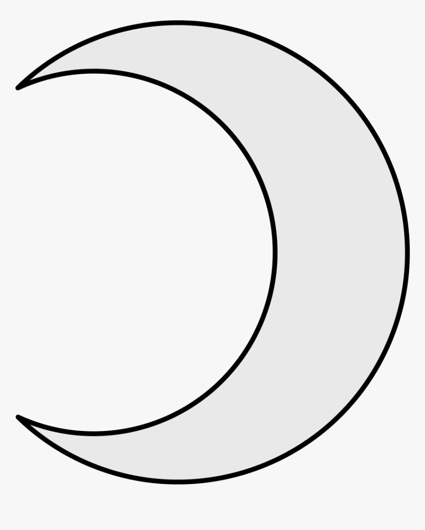 Line Drawing Crescent Moon, HD Png Download, Free Download