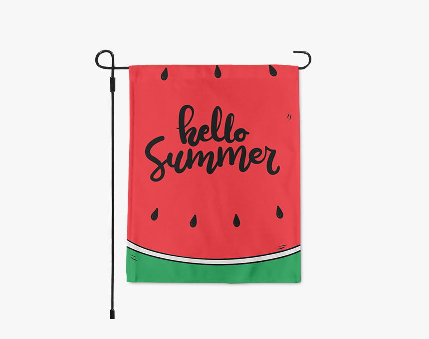 Hello Summer Watermelon Garden Flag Title Hello Summer