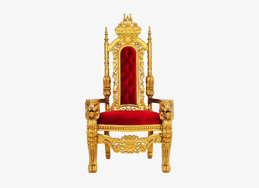 Gold Throne Png Transparent Image - Transparent King Chair Png, Png Download, Free Download