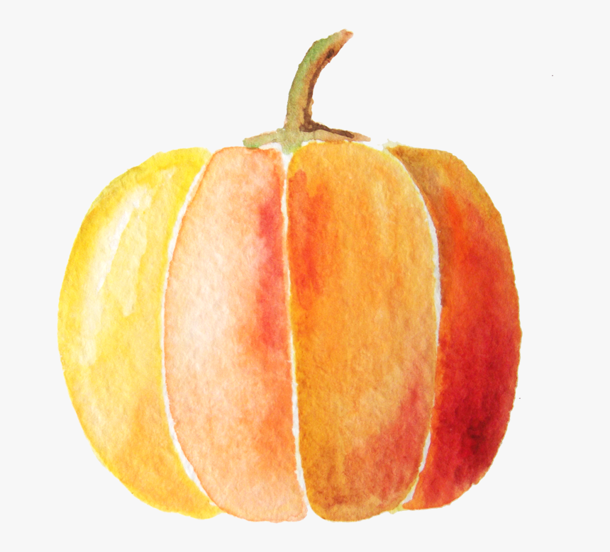 Transparent Watercolor Pumpkin Clipart - Water Color Pumpkin Png, Png  Download - kindpng