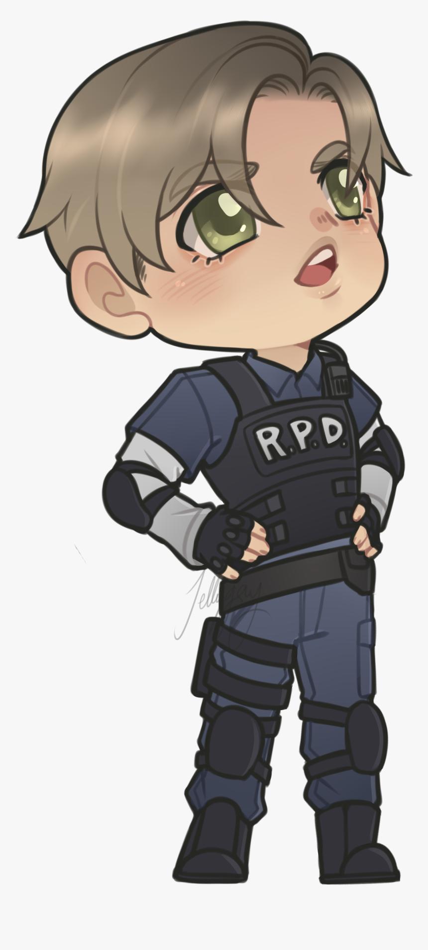 Resident Evil Leon Fanart Hd Png Download Kindpng