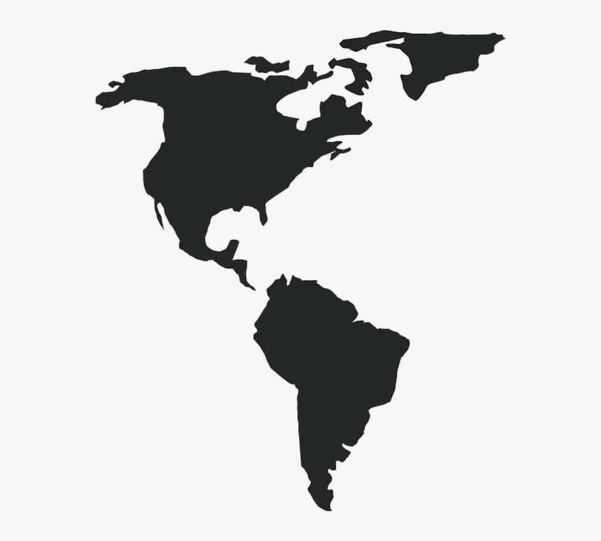 Americas, Map, America, Continents, Geography - Blg Logistics World Map, HD Png Download, Free Download