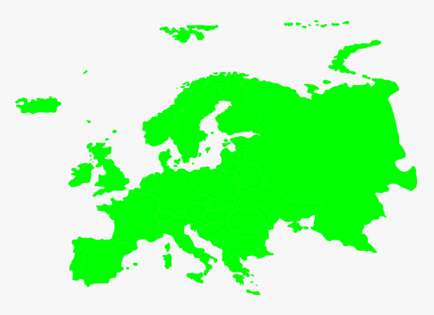 Europe Map Solid Color, HD Png Download, Free Download