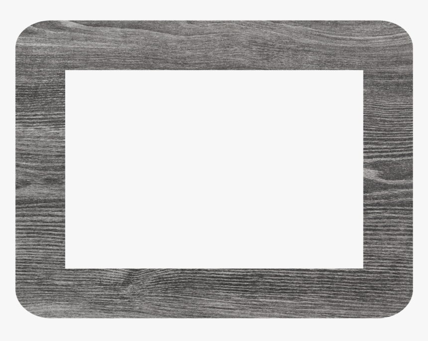 Gray Wood Plank Self-stick Picture Frames Collection - Circle, HD Png Download, Free Download