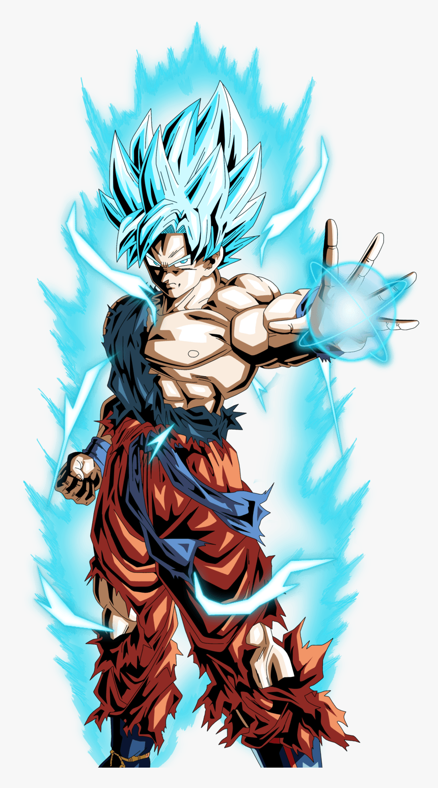 Super Saiyan God Goku Wallpapers Son Goku Ssj Blue Hd Png Download Kindpng