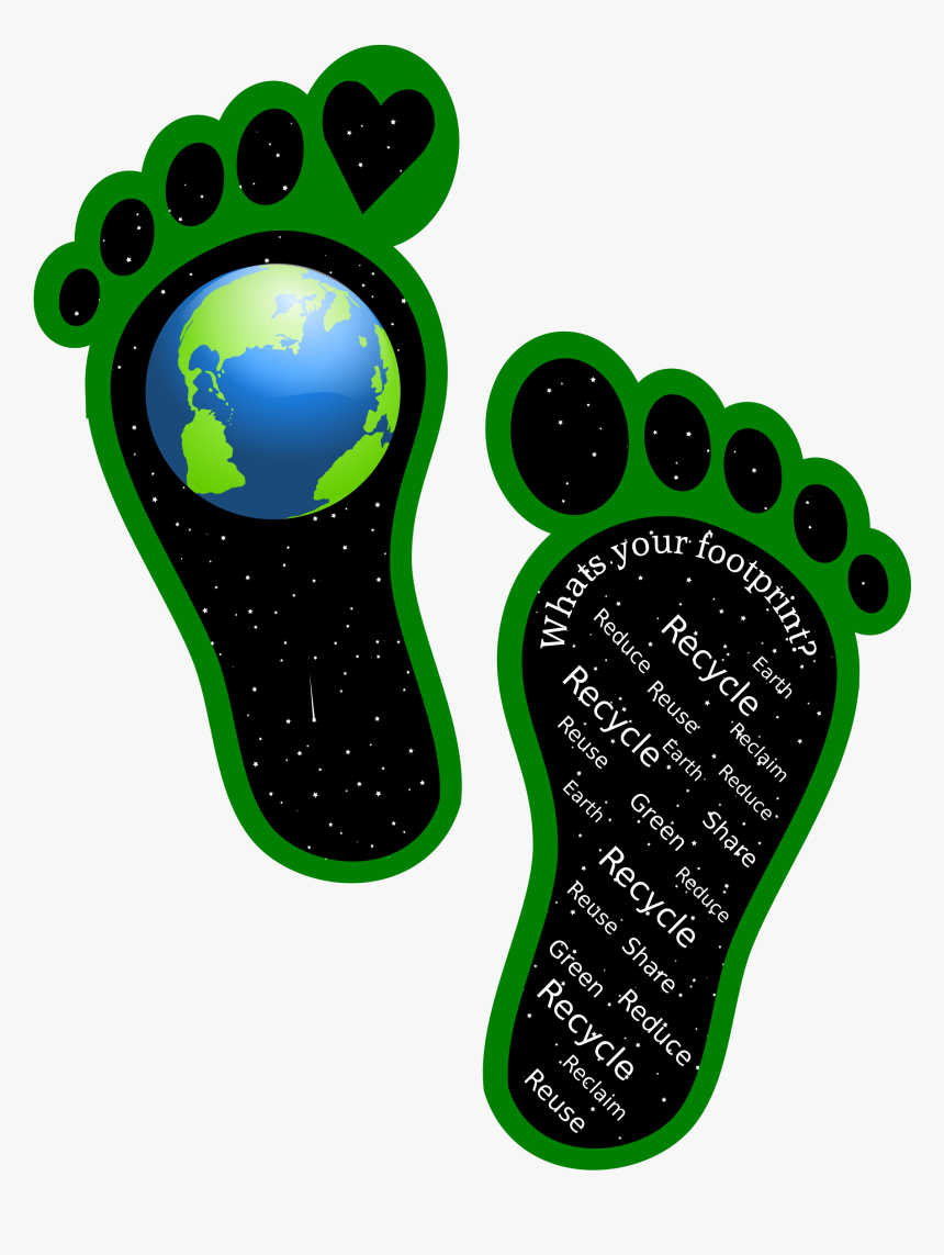 Earth Footprints Clip Arts - Clipart Footprint On Earth, HD Png Download, Free Download
