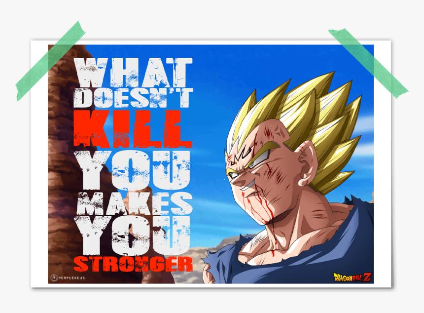 """Dragon Ball Z Majin Vegeta Super Saiyan What Doesn""""t - Dragon Ball Z Poster Majian Vageta, HD Png Download, Free Download"""