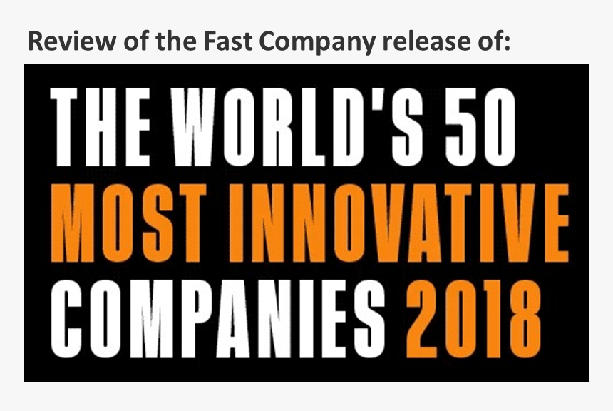 Fast Company 2018 50 Most Innovative Companies, HD Png Download, Free Download