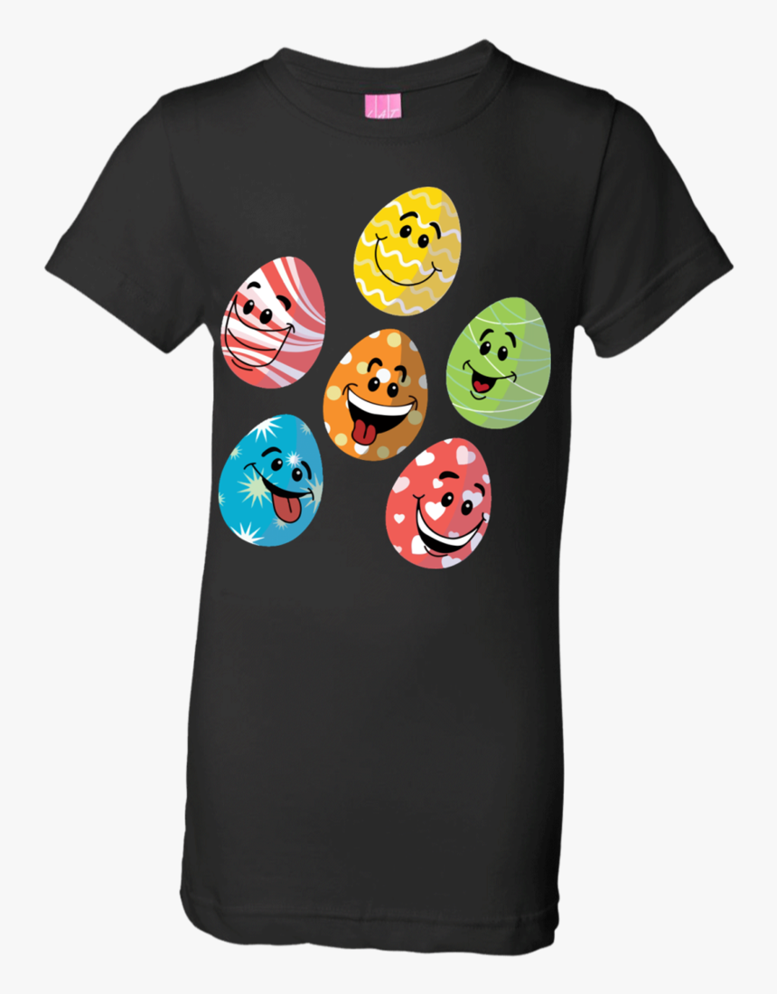 Easter Emoji Cute Eggs Faces Happy Easter Day Funny - T-shirt, HD Png Download, Free Download