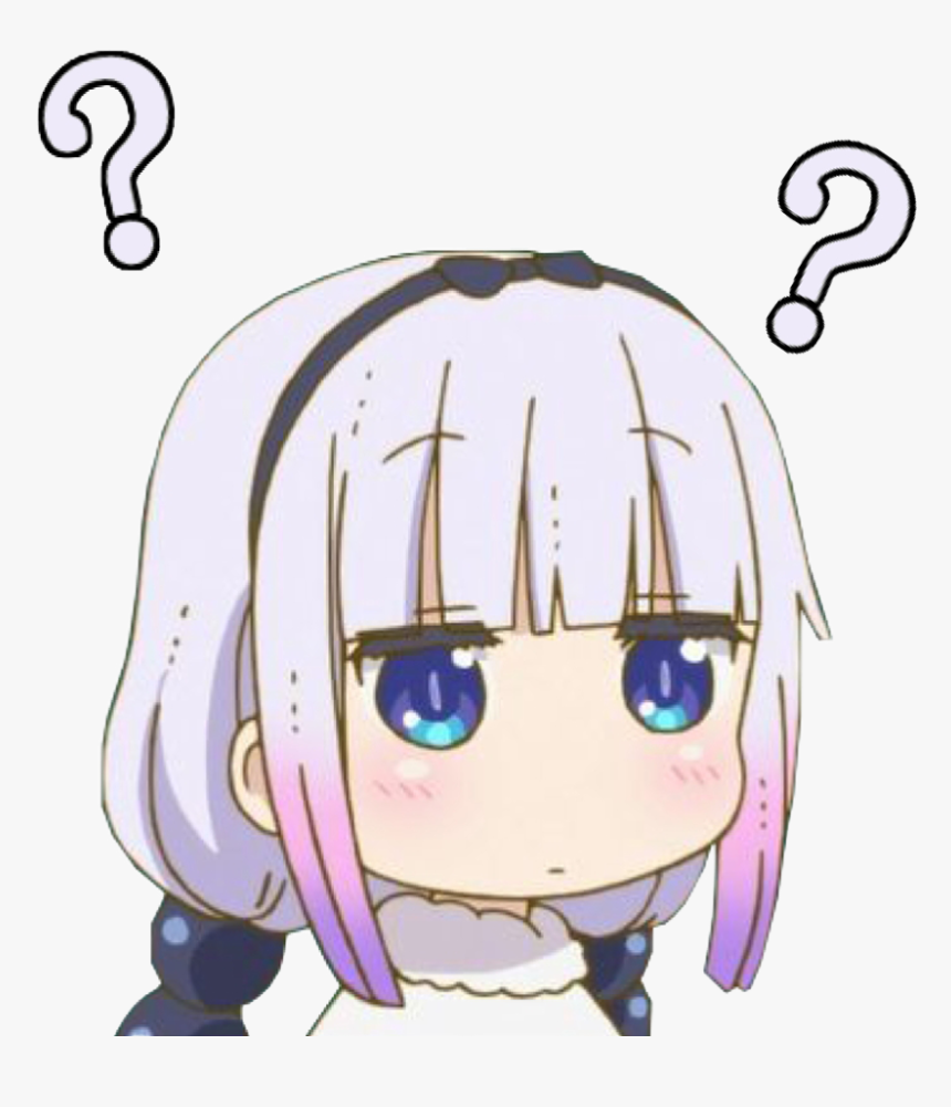 Kanna Confused Discord Emoji - Transparent Anime Discord Emojis, HD Png Download, Free Download
