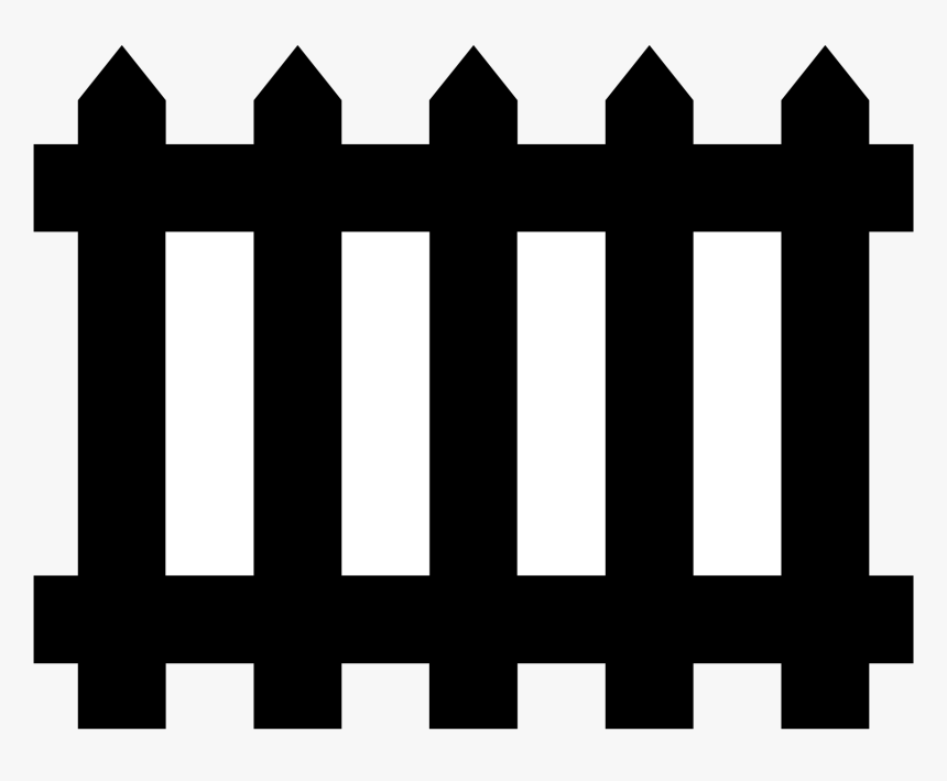 Halloween Fence Black White Clipart - Black Fence Clipart, HD Png Download, Free Download