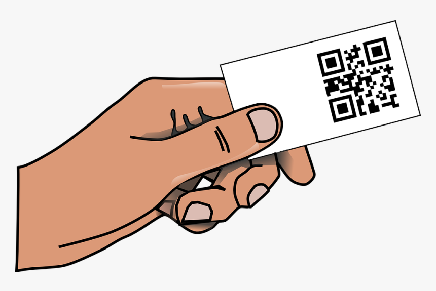 It Was Fashionable For A Time To Include A Qr Code - Blank Card In Hand, HD Png Download, Free Download