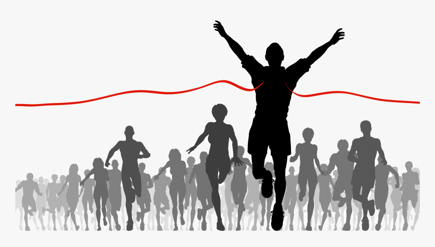 Download Finish Line Png Image - Running Into Finish Line, Transparent Png, Free Download