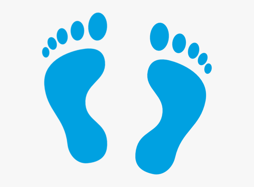 Feet Clipart Blue Foot Foot Icon Png Transparent Png Kindpng