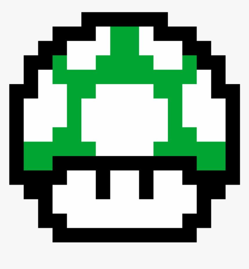 1up Mushroom - Mario 1 Up Mushroom 8 Bit, HD Png Download, Free Download