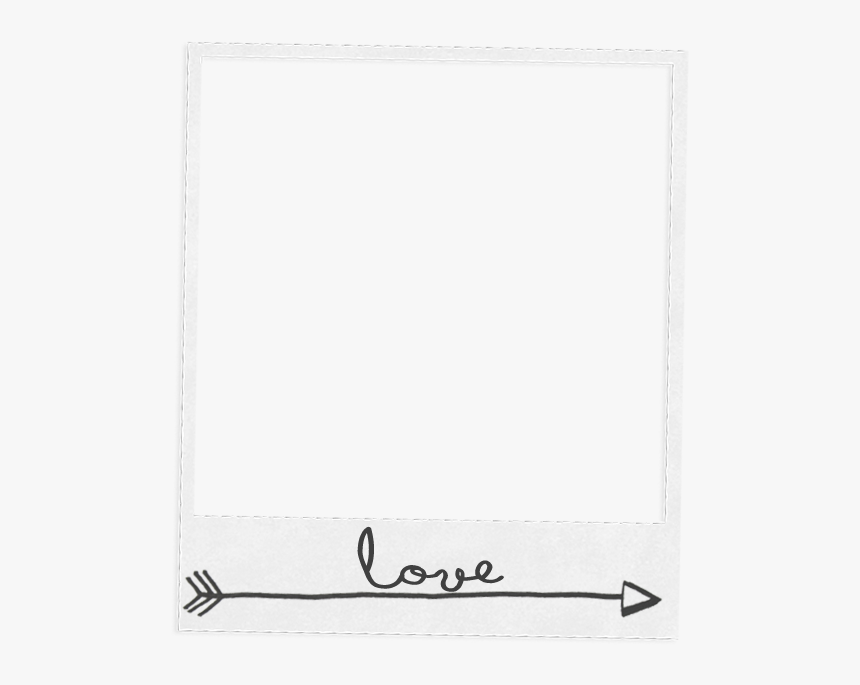 Clip Art Template For Free - White Polaroid Frames Png, Transparent Png, Free Download