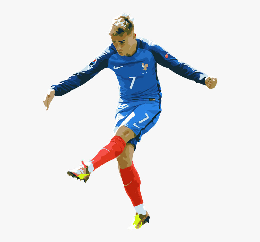 Att Antoine Griezmann Atletico Madrid Francia - Kick Up A Soccer Ball, HD Png Download, Free Download