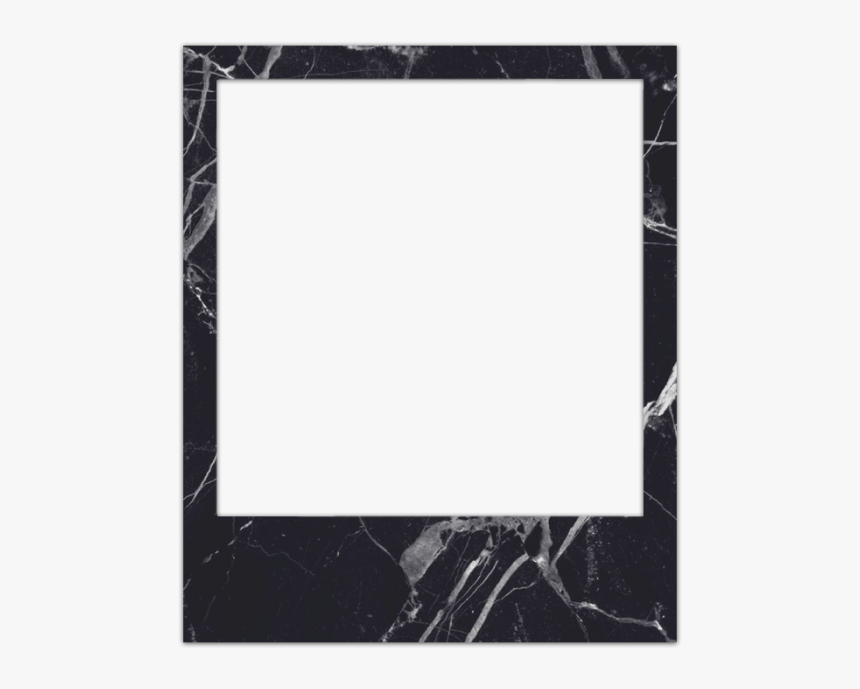 Transparent Polaroid Camera Clipart Black And White - Polaroid Black Frame Png, Png Download, Free Download