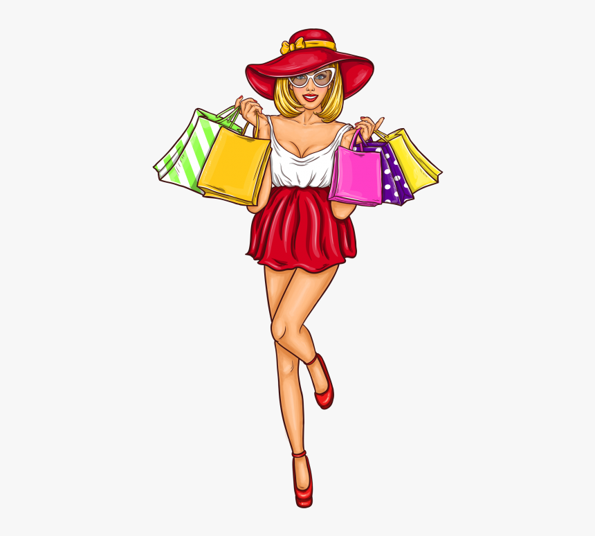 Shoping Girl Png Image Free Download Searchpng - Girl Pop Art Png, Transparent Png, Free Download