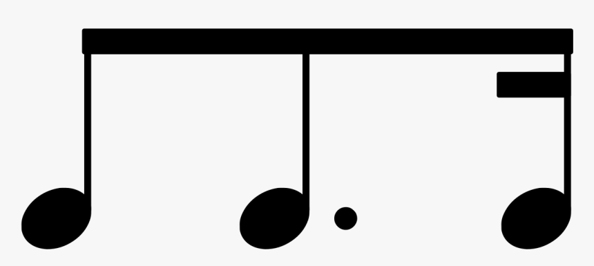 Beam - Eighth Note With Line, HD Png Download, Free Download