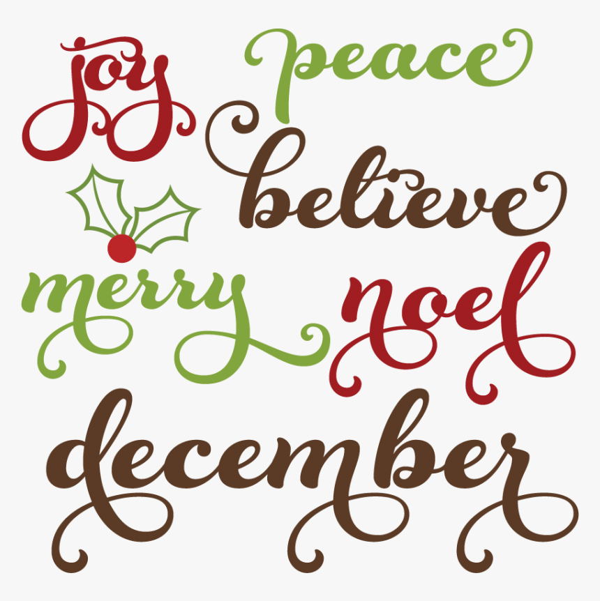 Christmas Words Svg Cutting Files