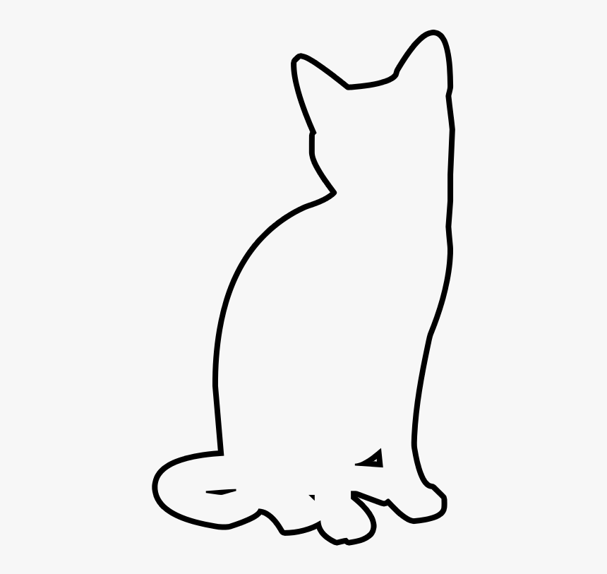 Outline Of A Cat Cartoon Hd Png Download Kindpng