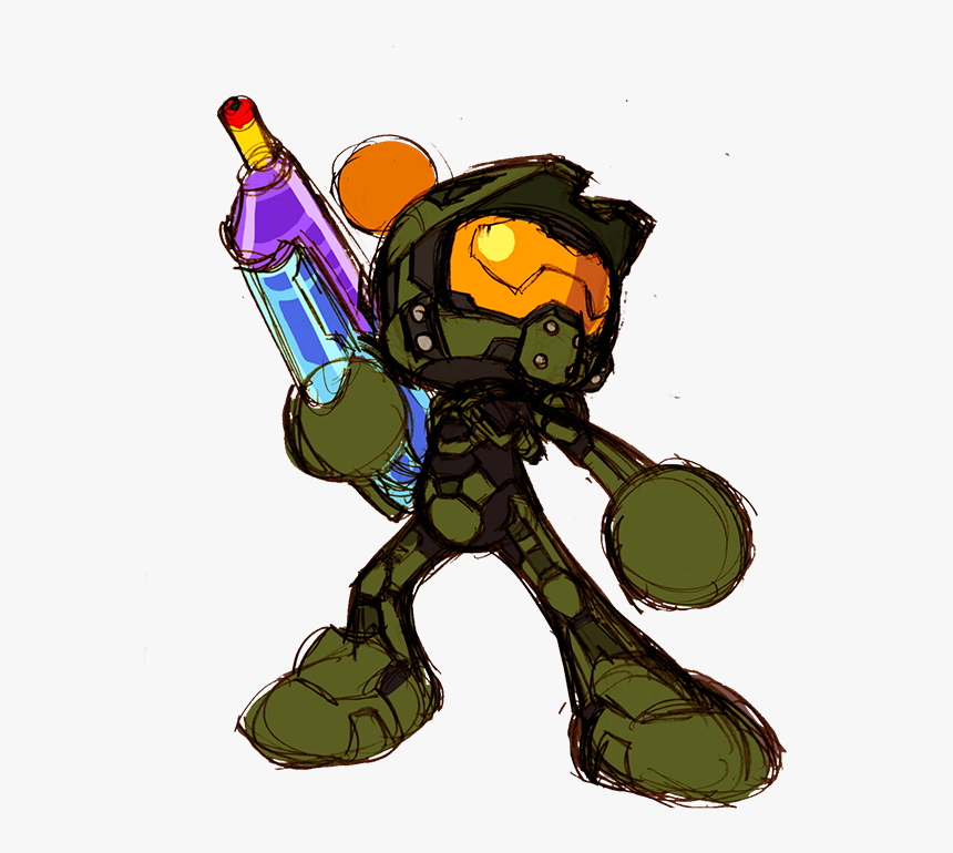 Master Chief Cartoon, HD Png Download, Free Download
